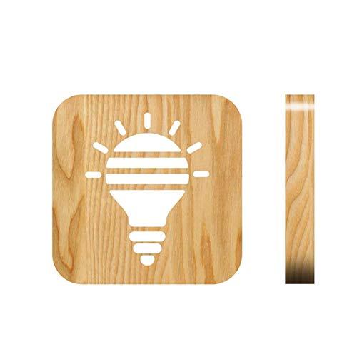 CJIANHUA Decoración nocturna brillante brillante bombilla patrón lámpara mesa USB enchufe noche luz led escritorio decoración creativa niños regalo luces cálidas para dormitorio junto a la cama del ha
