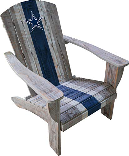 Imperial Officially Licensed NFL Dallas Cowboys Distressed Adirondack Chair - Premium Wooden Outdoor Patio, Lawn, and Yard Seating Furniture, one size fits all (511-1002)