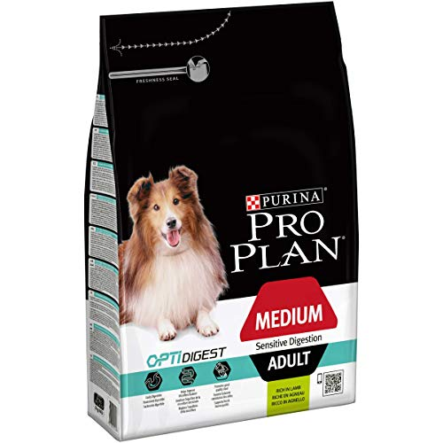 PURINA PRO PLAN Medium Adult Hundefutter trocken mit OPTIDIGEST, reich an Lamm, 1er Pack (1 x 3kg)