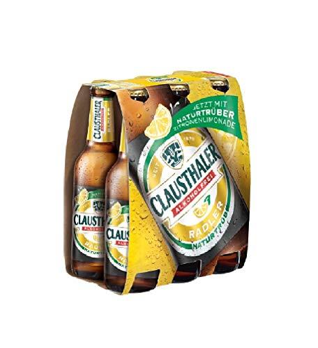 Clausthaler Radler Alkoholfrei Naturtrüb MEHRWEG, (6 x 0,33 l)