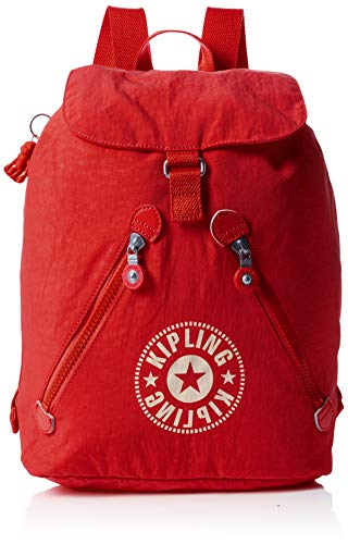 Kipling - Fundamental Nc, Mochilas Mujer, Rojo (Active Red Nc)