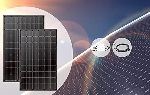 Mini-Solaranlage (Mini-Solaranlage 600Wp + Kabel 5m)