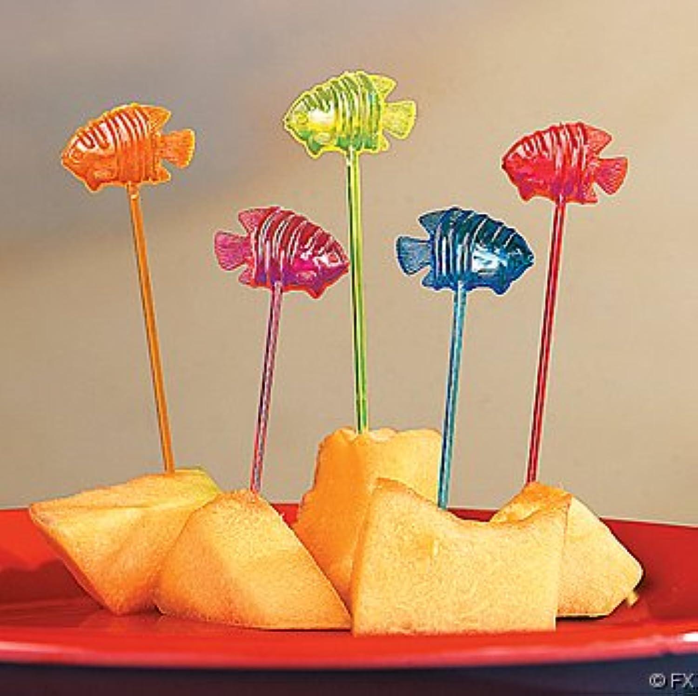 Fun Express Tropical Fish Party Food Picks - 72 Pieces...