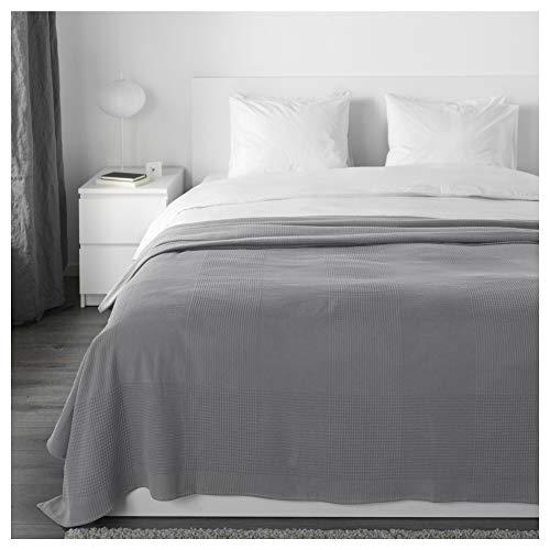 IKEA Indira Tagesdecke in grau; 100prozent Baumwolle; (230x250cm)