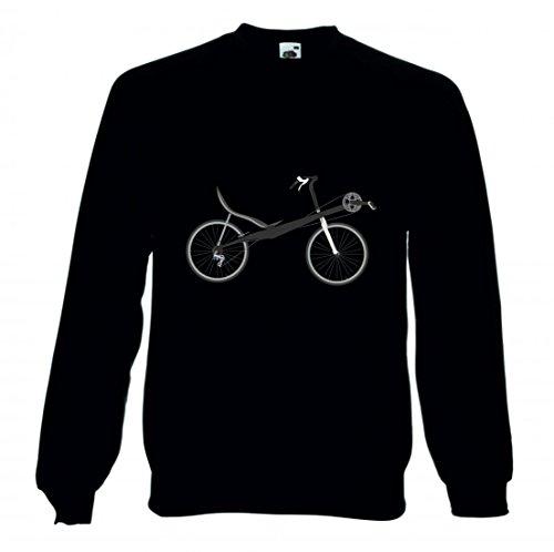 Druckerlebnis24 Sweatshirt Fahrrad- LIEGERAD- Chaise Lounge- Transport- Fahrzeug- Radfahren für Herren- Damen- Kinder