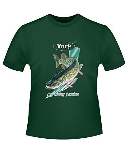 Geschenk für Angler & Fischer Fishing Passion Angeln T-Shirt Anglerbekleidung Geschenkidee Größen M-L-XL-XXL (Hecht, XL)