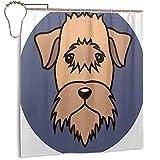 Duschvorhang mit Weizen-Terrier-Welpe, 167,6 x 182,9 cm, Badezimmer-Duschvorhang mit wasserdichtem Kunststoff, mit 12 Haken.