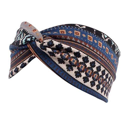 Yanhonin Haarband, breit, bedruckt, Ethno-Stil, für Frauen, Turban, Schönheit Nb