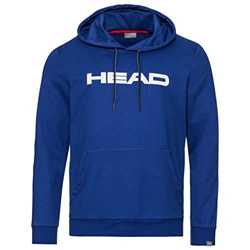 Headgear Club Byron - Felpa con Cappuccio da Uomo, Uomo, Felpa, 811449rowhlge, Blu Reale e Bianco., L