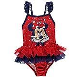Character Kinder Baby Maedchen Badeanzug Schwimmanzug Print Einteiler Bademode Disney Minnie 3-6 Mnth