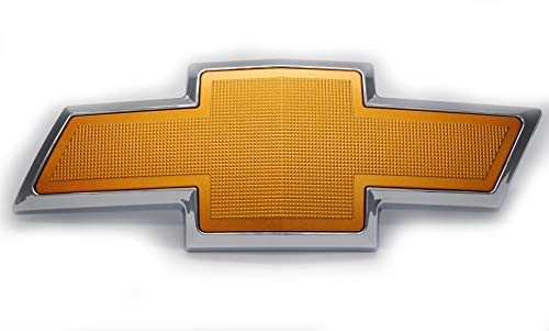 Gold Textured Bowtie Emblem Compatible With Chevrolet Avalanche 2007-2013, Suburban 1500 2007-2014, Suburban 2500 2007-2013, Tahoe 2007-2017 Front Grill