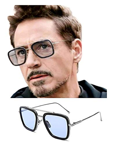 BIG KING Eyewear Blueray Block Uv Protected Computer Glasses In Black Aviator Frame for men and women (Unisex)-Large Size (Silver)