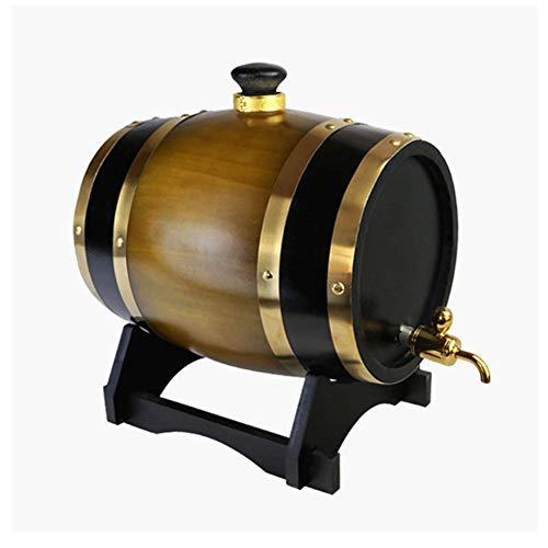 Weinfass Handgemachte Rumfässer 3L / 10L Eichenfass Whisky Barrel Spender for Lagerung Ihr Bier Spirituosen Whisky Rum Hafen Bourbon Tequila Liquor (Color : D, Size : 3L)