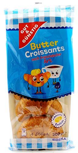 Gut und Günstig Butter Croissants, 8er Pack (8 x 200g)