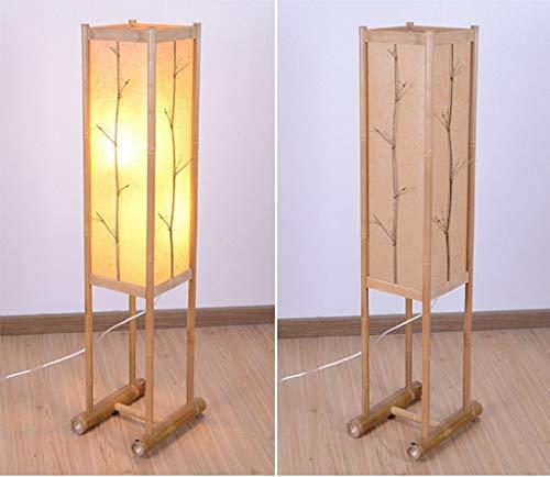 CLJ-LJ Piso Led rural Sala de estar Decoración Lámpara de piso, creativo sencillo de Luz Salón Lámparas Eye-El cuidado de luz baja vertical, café (Color : Wood)