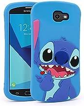 YONOCOSTA Cute Case for Samsung Galaxy J7 V / J7 2017 / J7 Prime / J7 Perx / J7 Sky Pro/Galaxy Halo Case, Blue Stitch Funny 3D Cartoon Animals Shaped Soft Silicone Shockproof Case Cover Skin
