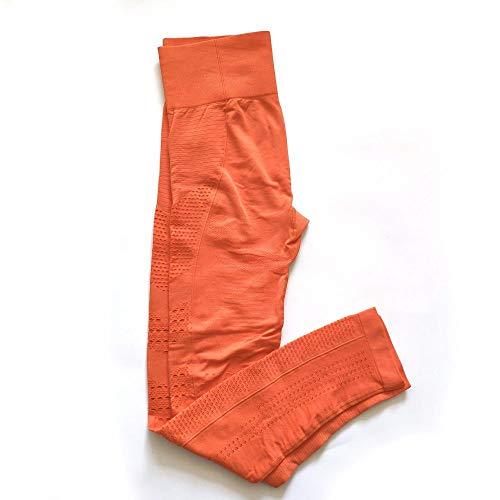 NIGHTMARE Tummy Control Damen Naked Feeling Gym Leggings Squat Proof Yogahose mit hoher Taille Sporthose Yogahose für das Fitnessstudio L