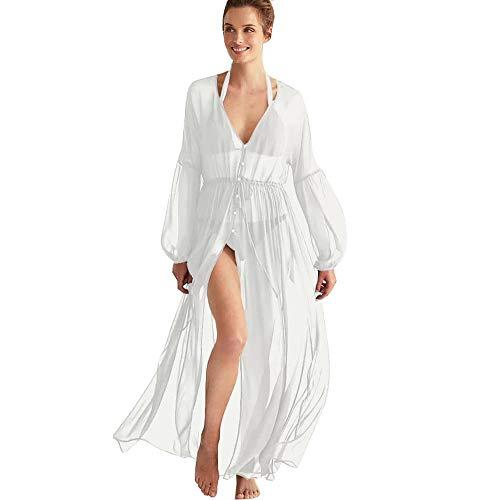 Lazzon Parei Copricostume Mare Donna Chiffon Cardigan da Spiaggia Sexy Bikini Cover up