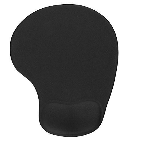 Office Mousepad with Gel Wrist Support - Ergonomic Gaming Desktop Mouse Pad Wrist Rest - Design Gamepad Mat Rubber Base for Laptop Comquter -Silicone Non-Slip Special-Textured Surface (03Black)