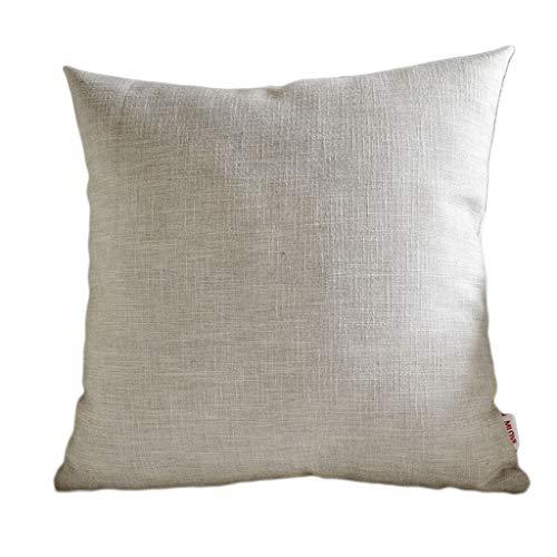 SAP- Cojín grueso tejido de lino suave y cómodo rebote algodón de producción fina almohada suave 60*60cm gris