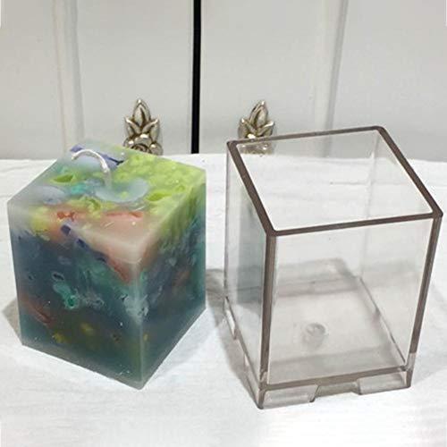 funihut - Molde para Velas, Cuadrado, de plástico, para Hacer Velas de Bricolaje, Suministros de artesanía