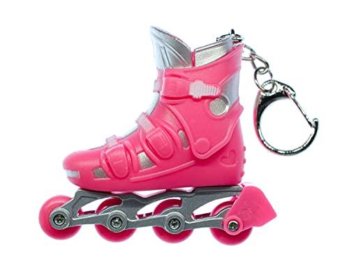 Miniblings Rollerskates Rollschuhe Inlineskates Schlüsselanhänger pink - Handmade Modeschmuck I I Anhänger Schlüsselring Schlüsselband Keyring