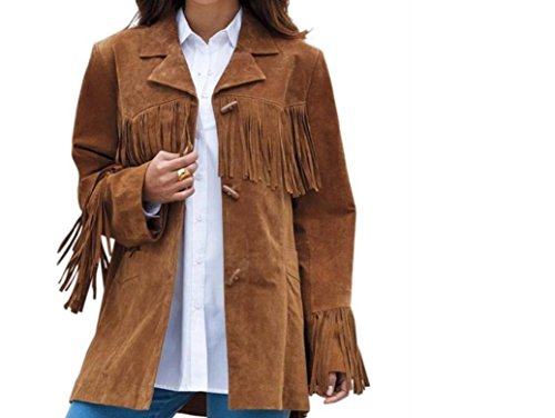 Western Leather Style - Chaqueta - para mujer marrón marrón