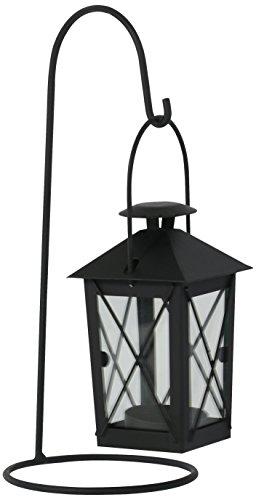 greemotion Laterne, Hängelaterne mit Ständer, H 25 cm, 10.5x10.5x25 cm, schwarz, 626531