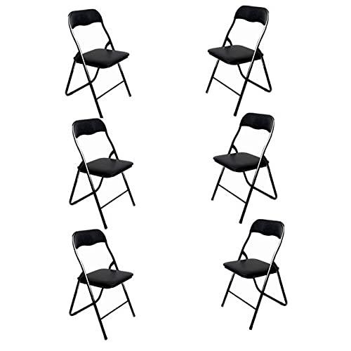 Pack de 6 sillas plegables de PVC 80 x 44 x 48...