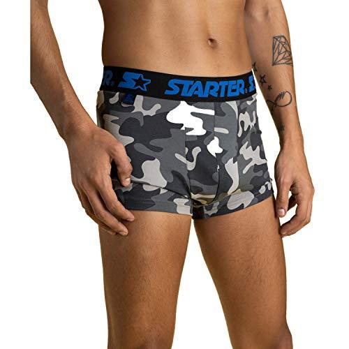STARTER BLACK LABEL® Premium Herren Boxershorts Schwarz Camouflage Mix (3er Pack) 95% Baumwolle (Ohne kratzendes Etikett)