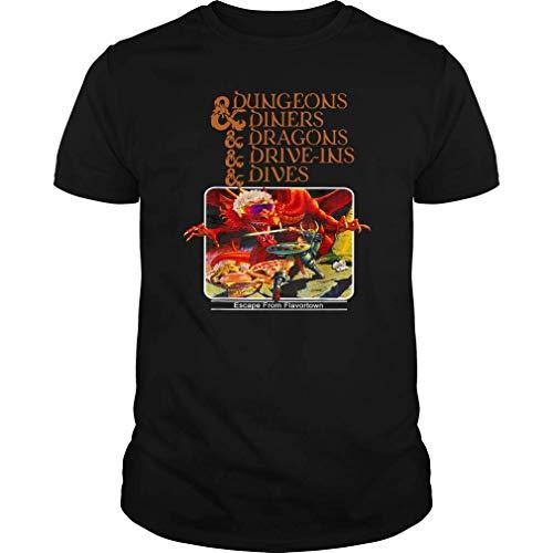 My Shop Dungeons & Diners & Dragons & Drive-Ins & Dives T-Shirt (Unisex T-Shirt;Black;XL)