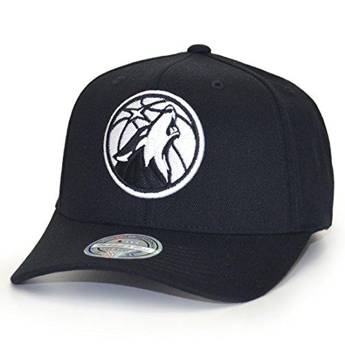 Mitchell & Ness Minnesota Timberwolves EU1033 110 Curved Black White NBA Flexfit Snapback cap One Size