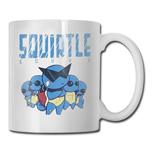 Baoan Squirtle Squad - Taza de café (cerámica), color blanco