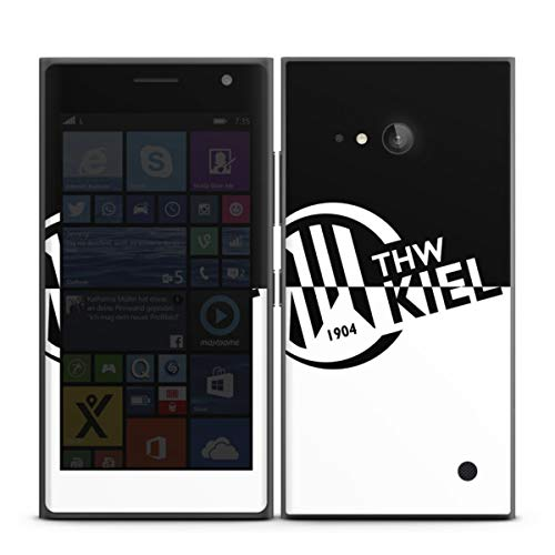 DeinDesign Folie kompatibel mit Nokia Lumia 730 Aufkleber Skin aus Vinyl-Folie Handball THW Kiel Fanartikel