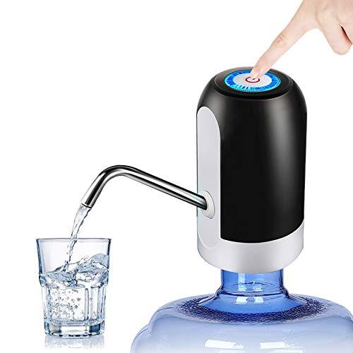 HUAPPNIO Wasserspender Elektrische Tragbar USB Aufladung 5 Gallonen Flaschen Wasserpumpe für Home Office Küchen Camping (Schwarz)