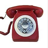 ZARTPMO Teléfono Fijo Vintage con Cable Teléfono Fijo Sobremesa Función de Rellamada para Oficina, Hogar