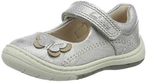 Clarks Baby Mädchen Softly Wow FST Lauflernschuhe, Silber (Silver Leather), 21 EU