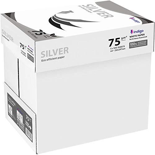 Caja de papel blanco de oficina, A4, para impresora, copiadora,5x 500 hojas(80 gsm), papel multifunción, impresora de inyección de tinta o láser