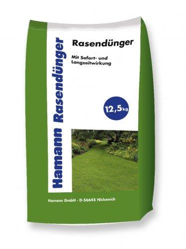 Hamann Rasendünger - Stickstoffbetonter Mehrnährstoffdünger zur Pflege Ihrer Grünanlagen - 12,5 kg Sack