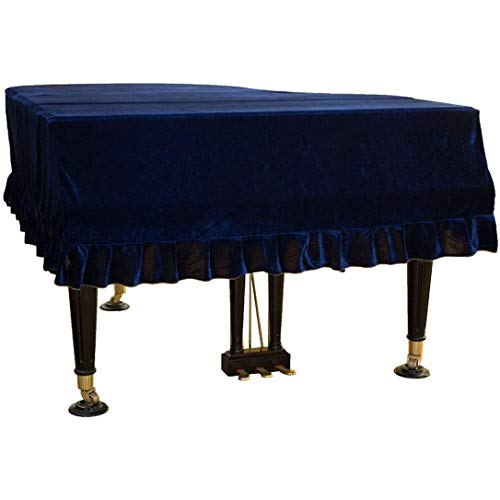 ZXD Klassische Cover Universal für Grand Piano Piano Dekorative Color Pleuche Plan A Full Test Coverage Powder Dekoriert,150cm/59.0inches