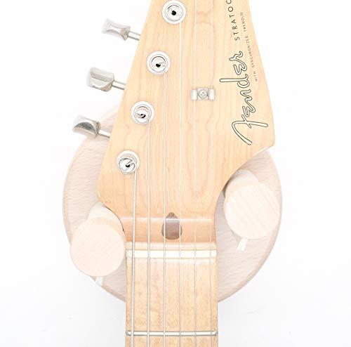Soporte guitarra pared para guitarra electrica y guitarra acústica hecho de madera maciza de Nogal Americano Fabricado en España Colgador guitarras eléctricas y guitarras acústicas (HAYA)