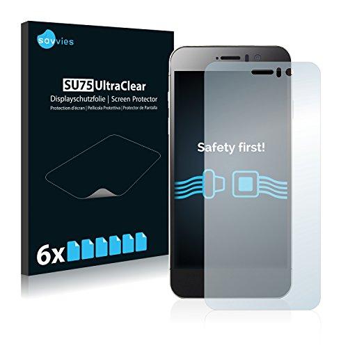 Savvies 6X Schutzfolie kompatibel mit Jiayu G5S Bildschirmschutz-Folie Ultra-transparent