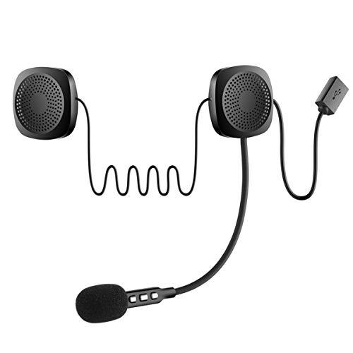 Nicoone Auriculares inalámbricos para casco de motocicleta, manos libres, respuesta de llamadas y auriculares para moto