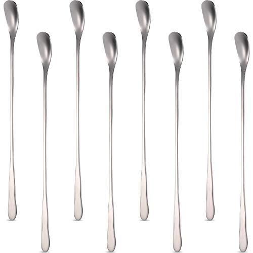 8 Pieces Stainless Steel Coffee Stirrers Mixing Spoon Drink Cocktail Stir Sticks Stirring Tea Spoon 787 Inch
