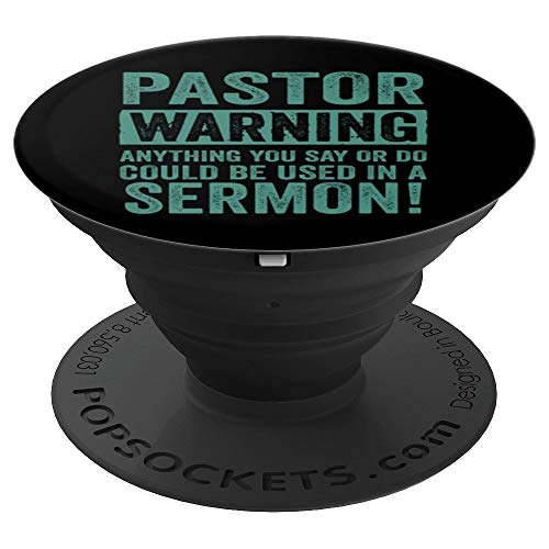 Funny Pastor Gift For Religious Preachers Men Women Church PopSockets Grip and Stand for Phones and Tablets