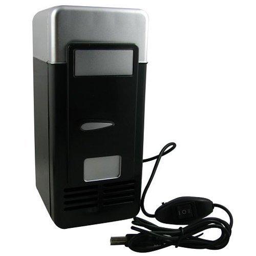 Mini PC USB Fridge, HQF Portable USB Beverage Drink Cans Fridge USB Powered Cooler & Warmer Car Refrigerator for Cold/Hot Beverage Drinks (Black)