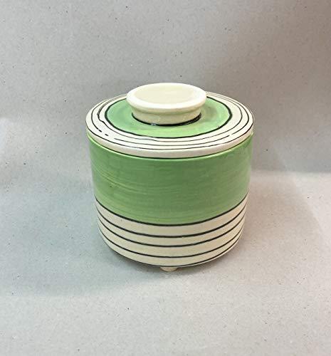 französische Wasserbutterdose für 250g Butter Keramik in grün