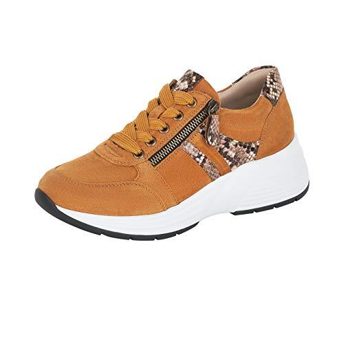 Remonte Damen Schnürhalbschuhe, Frauen sportlicher Schnürer, schnürer Sneaker freizeitschuh Ugly-Sneaker dad-Shoe,Gelb(mais),41 EU / 7.5 UK