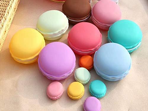 12 Stücke Mini Süß Bunt Macaron Döschen Kopfhörer Ohrringe SD-Karte Organizer Aufbewahrungsbox Kosmetiktasche(Zufällige Farben)
