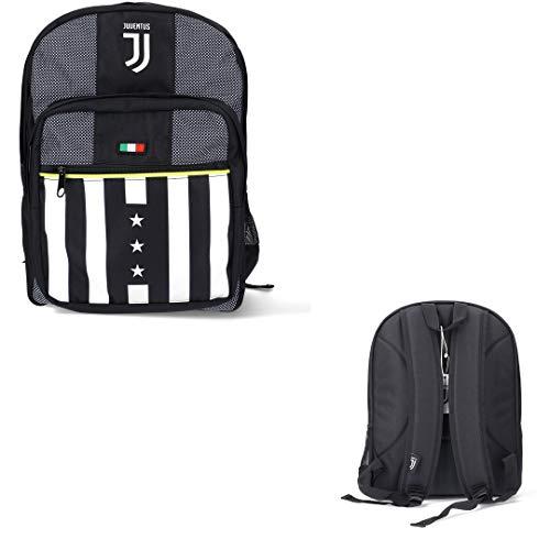 Juventus Zaino Doppio Scomparto - Collezione Scuola 2020/2021-100% Originale - 100% Prodotto Ufficiale - capacità 32 Litri Circa